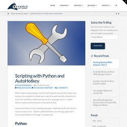 Scripting with Python and AutoHotkey