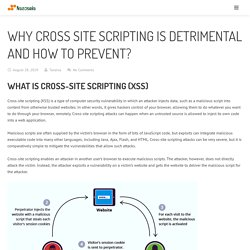 Why Cross Site Scripting Is Detrimental And How To Prevent?