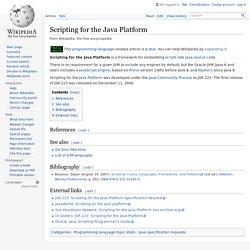 Scripting for the Java Platform