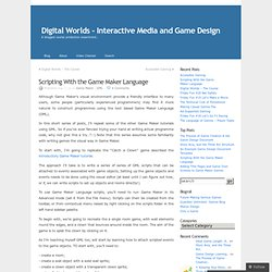 Digital Worlds - Interactive Media and Game Design