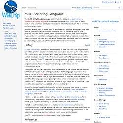 Tutorials - mIRC Scripting