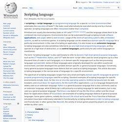 Scripting language