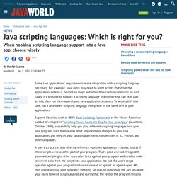 Java scripting languages: Which is right for you? (javaworld.com)