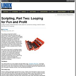 Scripting, Part Two: Looping for Fun and Profit