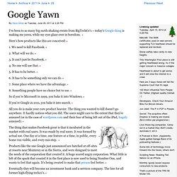 Google Yawn