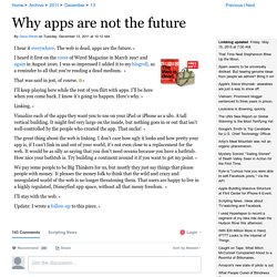 Why apps are not the future