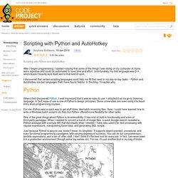 Scripting with Python and AutoHotkey