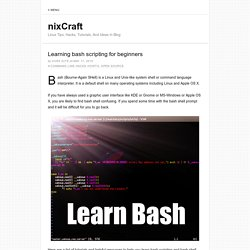 How to Learn bash shell and scripting – The best tutorials for bash beginners