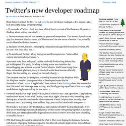 Twitter's new developer roadmap