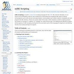 mIRC Scripting