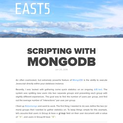 Scripting With MongoDB