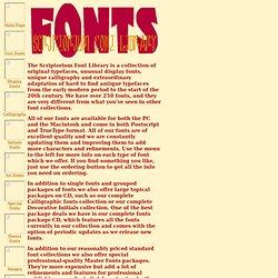Scriptorium Font Info Page