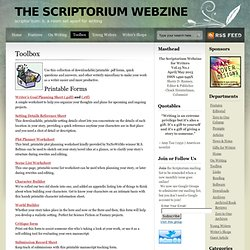 The Scriptorium Webzine » Toolbox