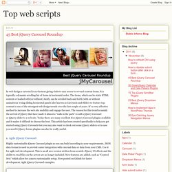Top web scripts: 45 Best jQuery Carousel Roundup