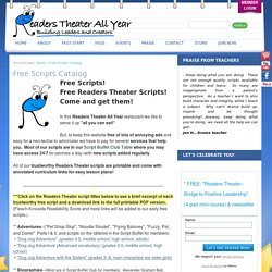 Free Scripts Catalog - Readers Theater All Year