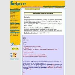 Java.Scripts-Fr.com : Détecter la taille de la fenêtre
