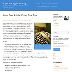 Voice Over Scripts: Writing Style Tips