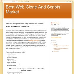 Best Web Clone And Scripts Market: What Will aliexpress clone script Be Like in 100 Years?