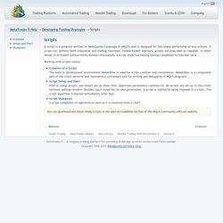 Scripts - MetaTrader 5 Help