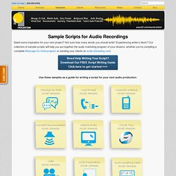 Sample Scripts for Audio Recordings