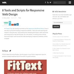 8 Tools and Scripts for Responsive Web Design | Tools