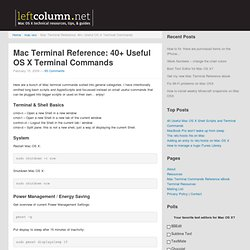 40 Useful Mac OS X Shell Scripts and Terminal Commands