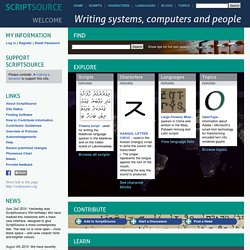 Writing systems, computers and people