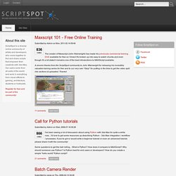 ScriptSpot | Your community resource for 3ds MAXScript or SketchUp Rubyscript