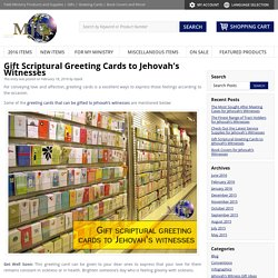 Gift Scriptural Greeting Cards to Jehovah's Witnesses