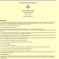 Scripture Catholic - The Three Degrees of Freemasonry
