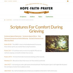 Scriptures For Comfort During Grieving
