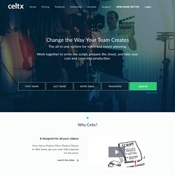 Celtx - #1 Choice for Media Pre-Production