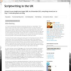 Scriptwriting in the UK: Bible Bashing