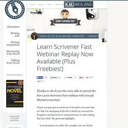 Learn Scrivener Fast Webinar Replay Now Available (Plus Freebies!)