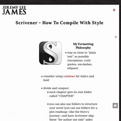 Scrivener - How To Compile With Style -