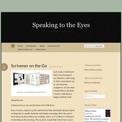 Scrivener on the Go « Speaking to the Eyes