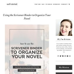 Using the Scrivener Binder to Organize Your Novel — Well-Storied
