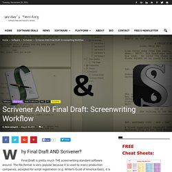 Scrivener AND Final Draft: Screenwriting Workflow › Writer's Territory