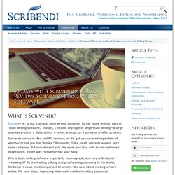 30 Days with Scrivener: Scribendi Reviews Scrivener Book Writing Software