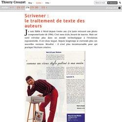 Scrivener : le traitement de texte des auteurs