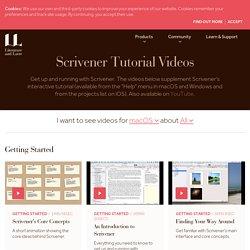 Scrivener Tutorial Videos