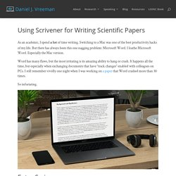 Using Scrivener for Writing Scientific Papers - Daniel Vreeman