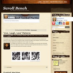 Scroll Bench: Free Pattern