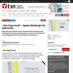 """""""One Page Scroll"""" – Apples Webdesign für jedermann"""