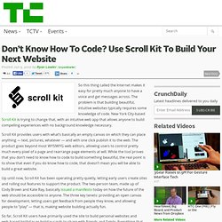 Don't Know How To Code? Use Scroll Kit To Build Your Next Website