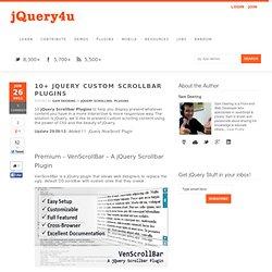 10 jQuery Custom Scrollbar Plugins