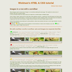 Images with a scrollbar - Wickham's HTML & CSS tutorial