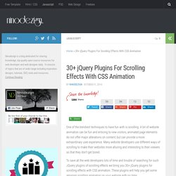 CSS +HTML - jQuery Plugins For Scrolling Effects