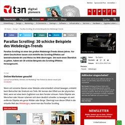 Parallax Scrolling: 30 schicke Beispiele des Webdesign-Trends