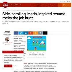 Side-scrolling, Mario-inspired resume rocks the job hunt
